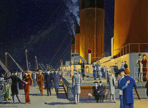 Titanic Deck Scene