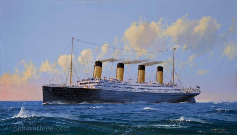 RMS Titanic Sunset