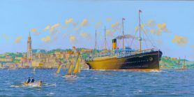 SS Cymric in Queenstown Art Print