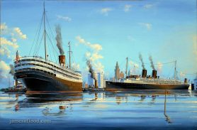 SS Florida and Iroquois Art Print