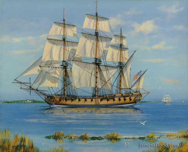 USS Boston 1777, Frigate Art Print