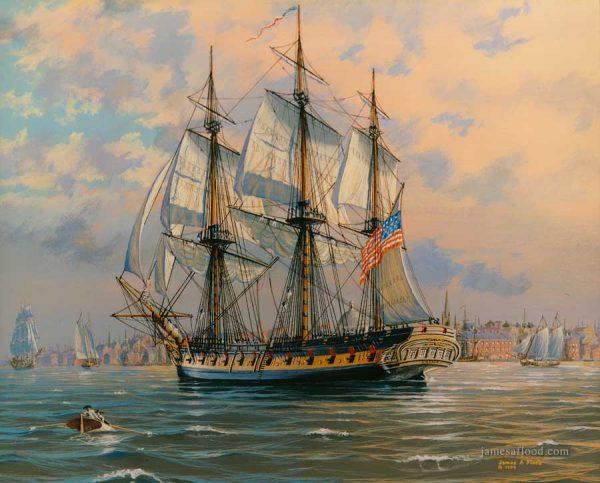 USS Boston 1799 Art Print