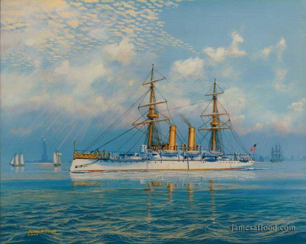 USS Boston Protected Cruiser Art Print