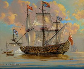 HMS Royal Charles Royal Navy Print
