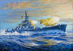 USS Alabama BB-69 Art Print