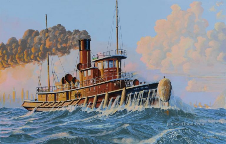 Lady Helen Tugboat painting