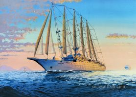 Wind Surf Windstar Cruises Painting
