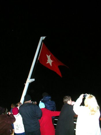 Titamic Memorial Flag Raising